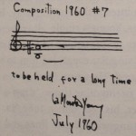 Composition 1960 #7 score by La Monte Young.