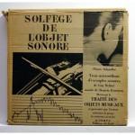 solfege de l'objet sonore, vinyl, Schaeffer