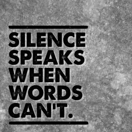 interview, minute de silence, Silence speaks